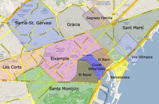 Karta Over Sevardheter I Barcelona.Barcelona Guide